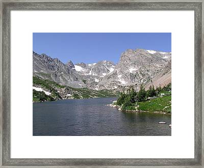 Lake Isabelle And The Continental Divide Framed Print