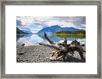 Lake Kathleen In Kluane National Park Framed Print by Blake Kent