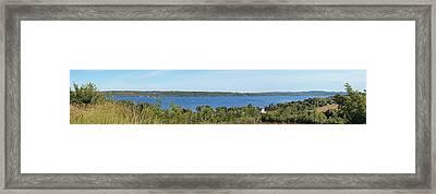 Lake Leelanau Panorama Framed Print