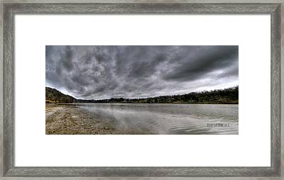 Framed Print featuring the photograph Lake Logan Panorama by Brian Stevens