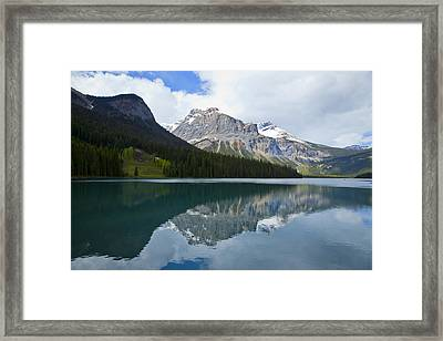 Lake Louise 1819 Framed Print by Larry Roberson