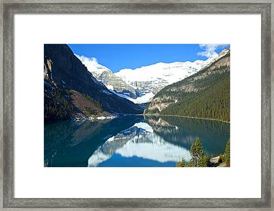 Lake Louise 1827 Framed Print by Larry Roberson