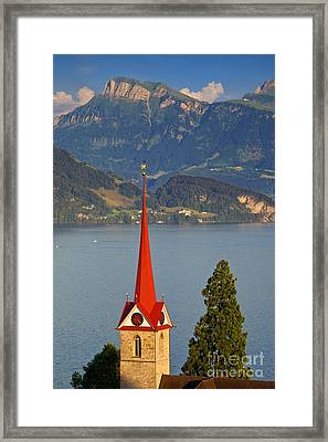 Lake Lucerne Framed Print by Brian Jannsen