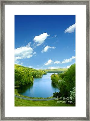 Lake Macdonough Framed Print