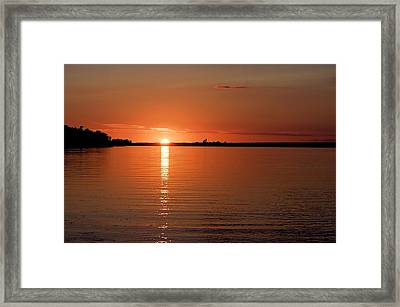 Framed Print featuring the photograph Lake Manitoba Sunset by Scott Holmes