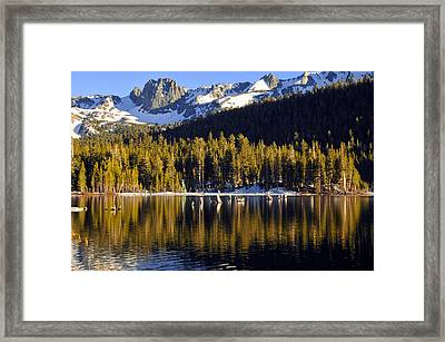 Framed Print featuring the photograph Lake Mary Reflections by Lynn Bauer
