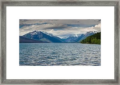 Lake Mcdonald Upon Storm Clearing Framed Print