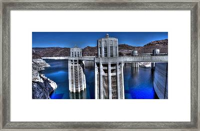 Framed Print featuring the photograph Lake Mead Hoover Dam by Jonathan Davison
