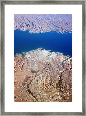 Lake Mead Nevada Aerial Framed Print by James BO  Insogna
