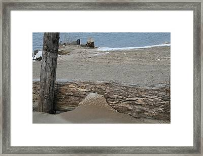 Lake Michigan December 2007 Framed Print