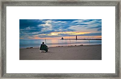 Lake Michigan Fishing Framed Print