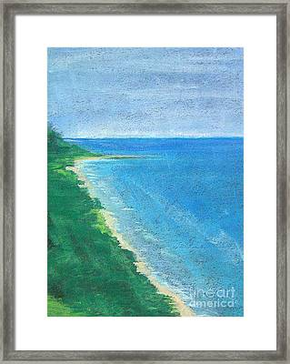 Lake Michigan Framed Print by Lisa Dionne