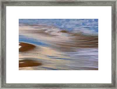 Lake Michigan Surf Framed Print by Dean Pennala