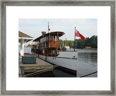 Lake Muskoka Steamer Framed Print