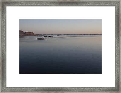 Lake Nasser, Formed When The Nile Framed Print by Taylor S. Kennedy