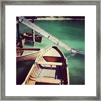 Lake Of Braies - Alto Adige Framed Print