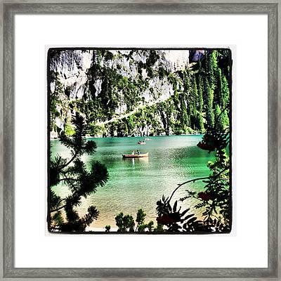 Lake Of Braies - South Tyrol Framed Print