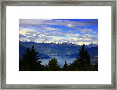 Lake Of Como View Framed Print