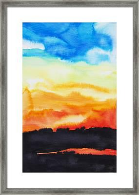 Lake Of Fire Framed Print by Tara Thelen