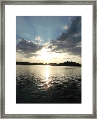 Lake Of Love Framed Print by Brian  Maloney