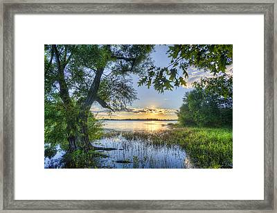 Lake Peewee At Sunset Framed Print by Jim Pearson