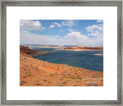 Lake Powell Landscape Panorama Framed Print by Merton Allen