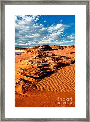 Lake Powell Morning Clouds Framed Print by Thomas R Fletcher