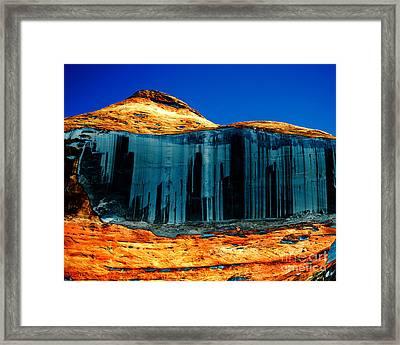 Lake Powell Stripe Framed Print by Rebecca Margraf