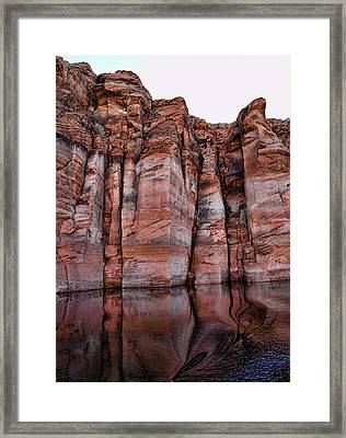 Lake Powell Water Canyon Framed Print by Jon Berghoff