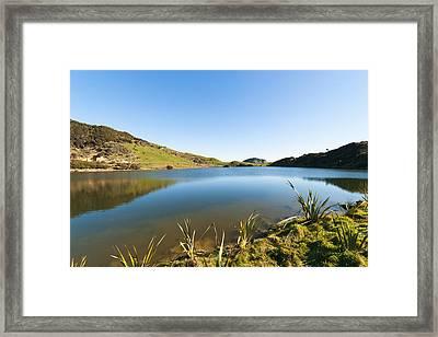 Lake Reflection Framed Print by Graeme Knox