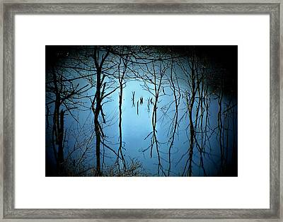 Lake Reflections Framed Print by Michael L Kimble