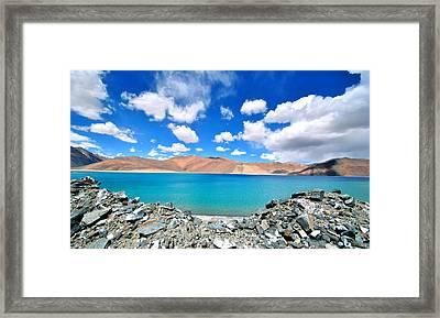 Lake Framed Print by Saira Ks