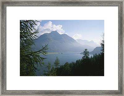 Lake Segl In The Engadin Valley Framed Print by Taylor S. Kennedy