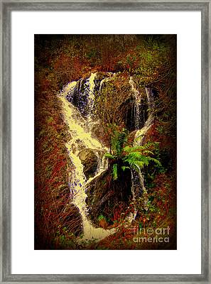 Lake Shasta Waterfall 3 Framed Print by Garnett  Jaeger