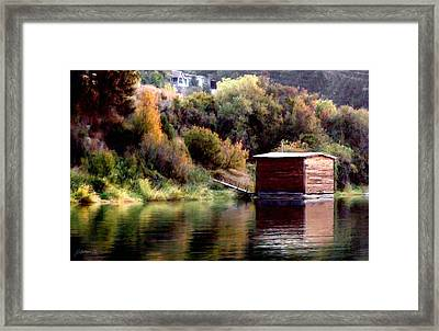 Lake Shed Framed Print by Jim Pavelle