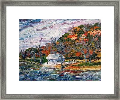 Lake Side  Framed Print by Linda  Steine
