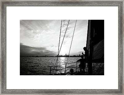 Lake Silhouettes Framed Print by Matt Smith