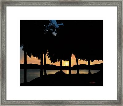 Lake Sunset Framed Print by Tim Stringer