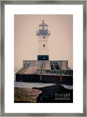 Lake Superior Lighthouse Framed Print