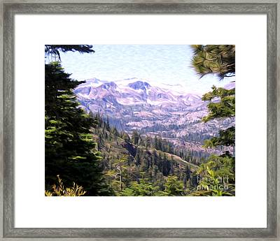 Framed Print featuring the photograph Lake Tahoe Mountains by Anne Raczkowski