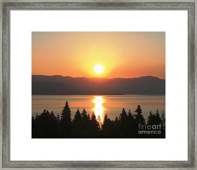 Framed Print featuring the photograph Lake Tahoe Sunrise by Anne Raczkowski