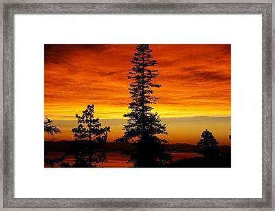 Lake Tahoe Sunset Framed Print by Bruce Friedman
