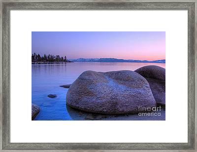 Lake Tahoe Sunset Framed Print by Scott McGuire