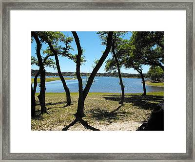 Lake Travis  Framed Print by Rebecca Cearley