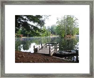 lake Vanare dock Framed Print by Lali Partsvania
