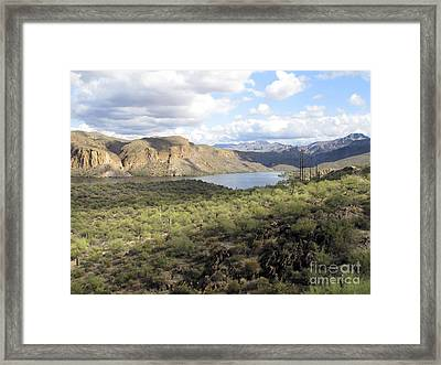 Framed Print featuring the photograph Lake View From Arizona Hwy by Leslie Hunziker