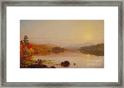 Lake Wawayanda Framed Print by Jasper Francis Cropsey