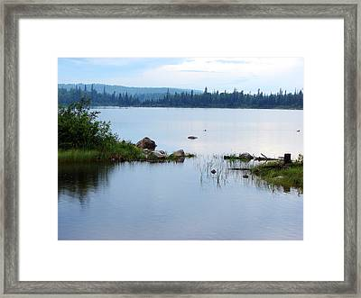 Lake West Of Wawa Framed Print