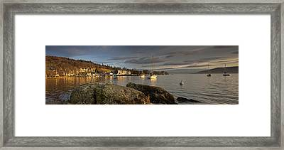 Framed Print featuring the photograph Lake Windermere Ambleside, Cumbria by John Short