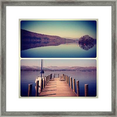 Lake Windermere #manc #manchester Framed Print